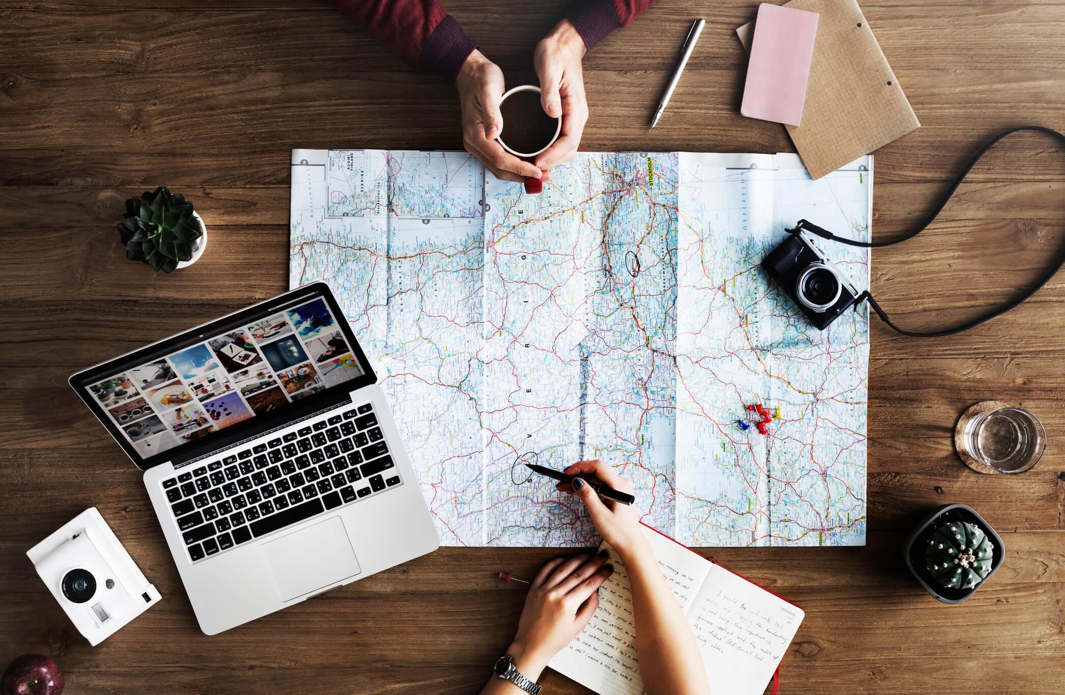Werken of stage in het buitenland of op vakantie?